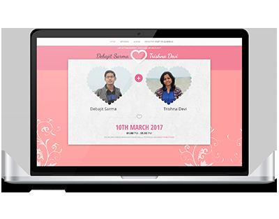 Wedding website by UJUDEBUG