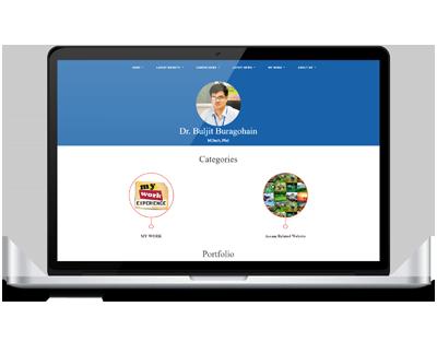 buljit buragohain - portfolio blog website design, development by UJUDEBUG