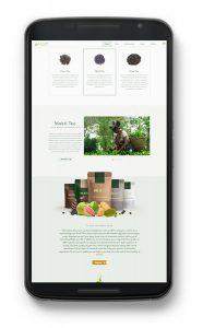 MuktiTea, Ecommerce website design by UJUDEBUG