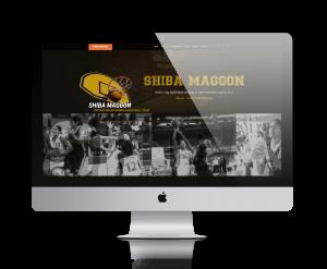 Shiba Maggon, Indian Basketball Player website design by UJUDEBUG