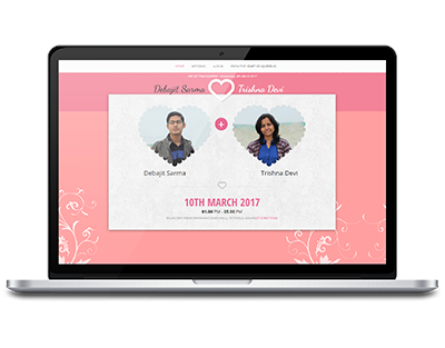 Wedding website by UJUDEBUG