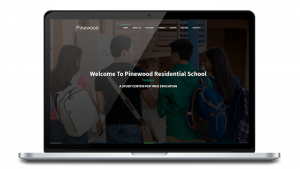 Pinewood Residential School, Tinsukia website design, development by UJUDEBUG