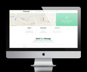 Pinewood Residential School, Tinsukia website design, development by UJUDEBUG
