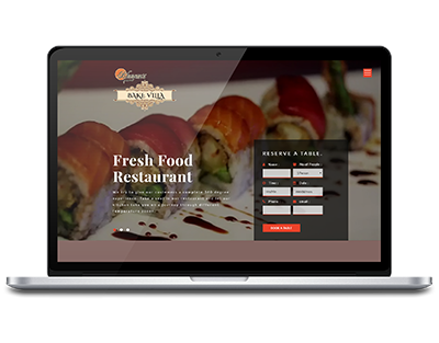 Bhuyans Food Villa, Food Restaurant website design by UJUDEBUG