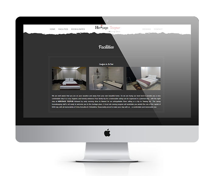 Hotel Heritage Tezpur website design by UJUDEBUG