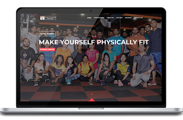 gym point - portfolio gym, fitness center website design, development by UJUDEBUG