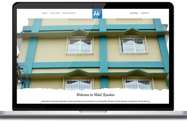 hotel kaustav website design, development by UJUDEBUG