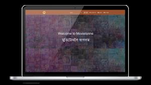 Movietonne website design, development by UJUDEBUG