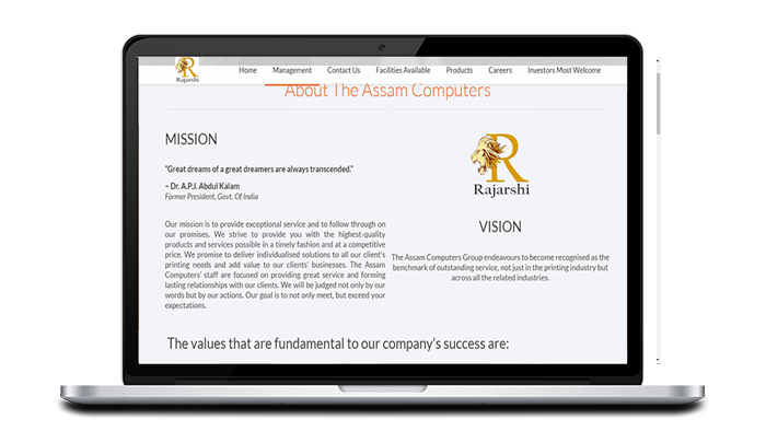The Assam Computer - website design in Tinsukia