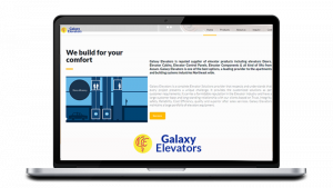 Galaxy Elevator - Company website design in guwahati