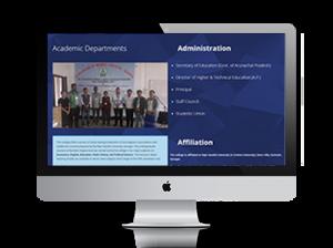 Govt College Website Designing - Ujudebug