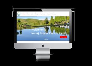 tours and travels website design ujudebug