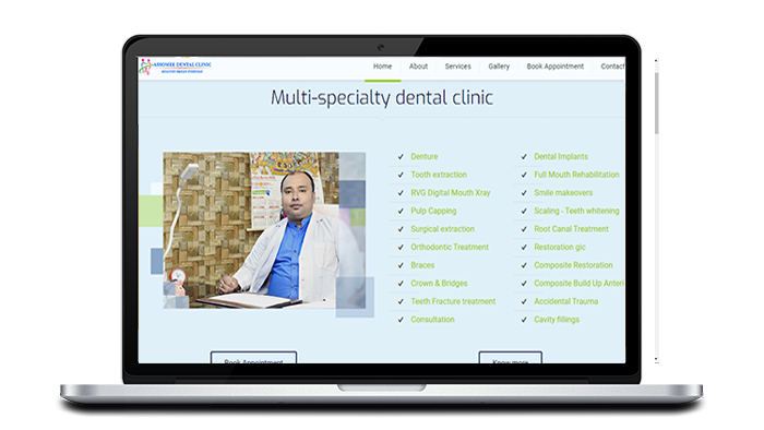 Dental clinic website designing