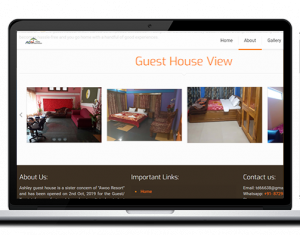 guesthouse website design ujudebug
