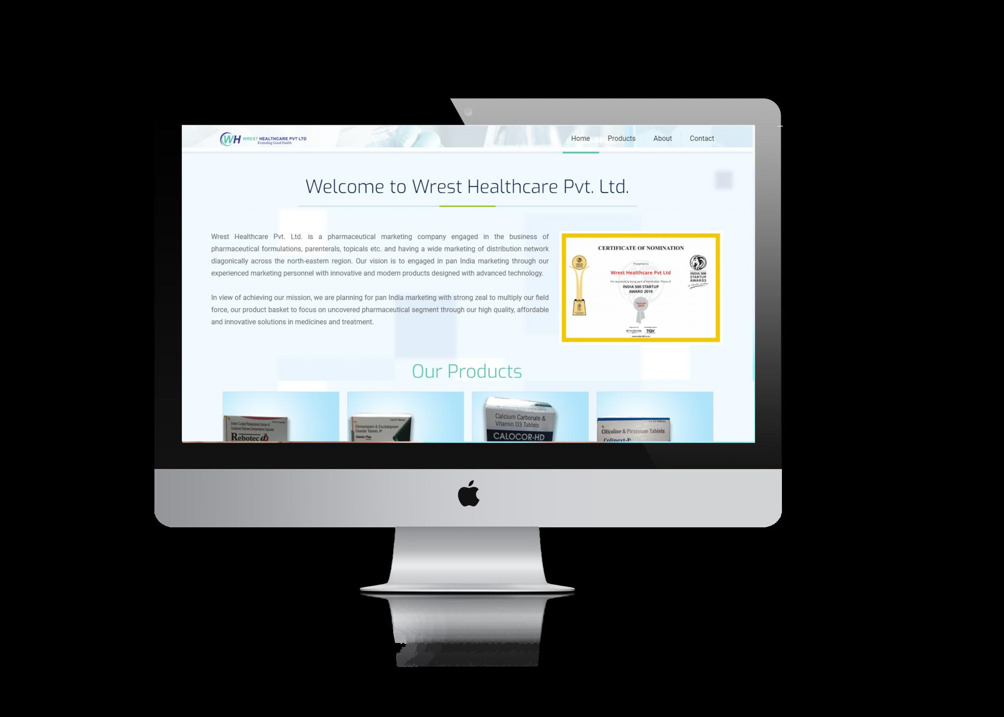 medicine company website design ujudebug