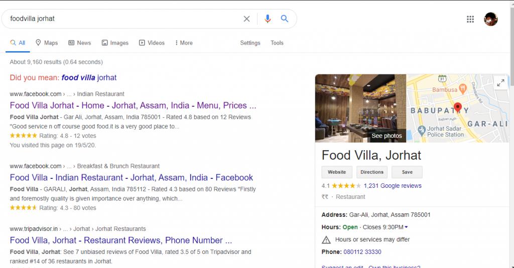 foodvilla jorhat search engine optimization