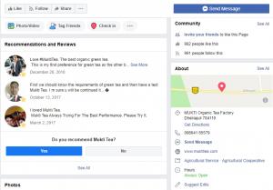 mukti tea social media markeing campaign