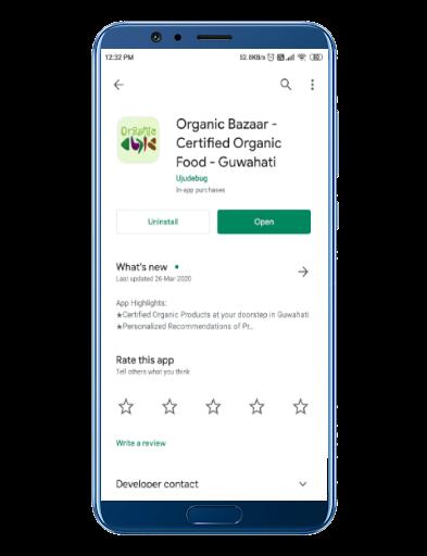 organicbazaar andoid app ujudebug