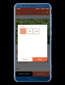 shop2door user interface