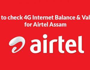 Airtel Assam Balance Check Online