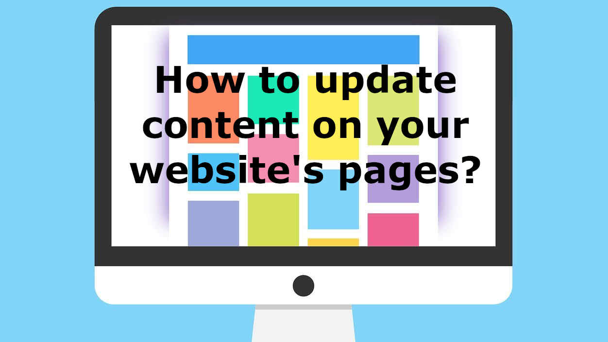 how to update content on your websites page