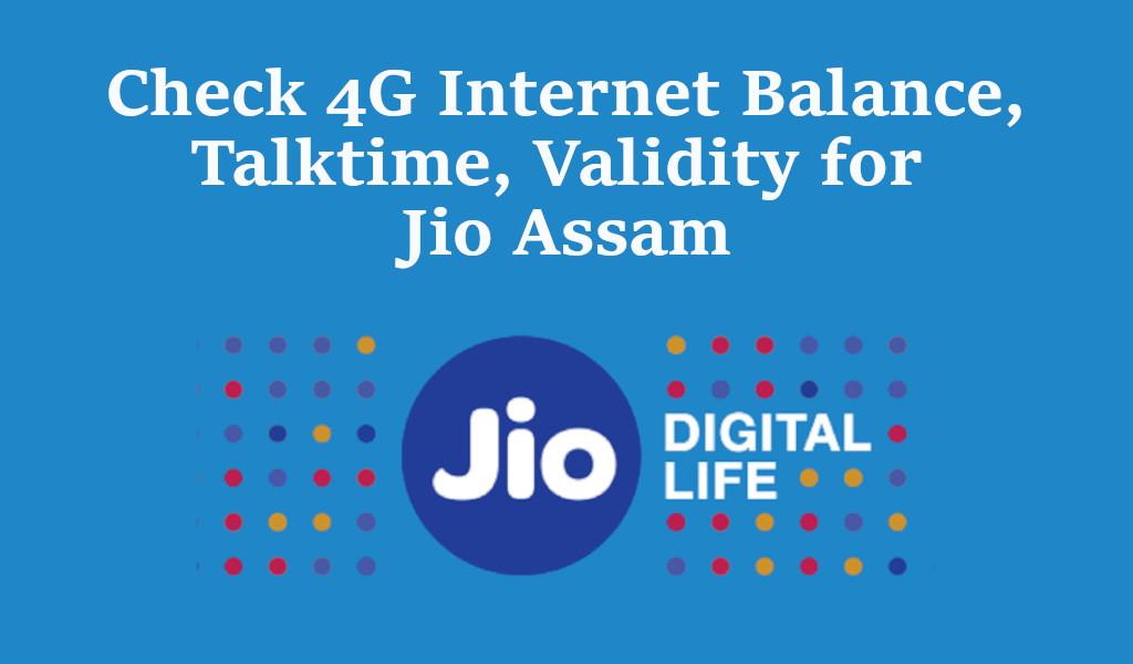 Check Balance and validity of jio assm