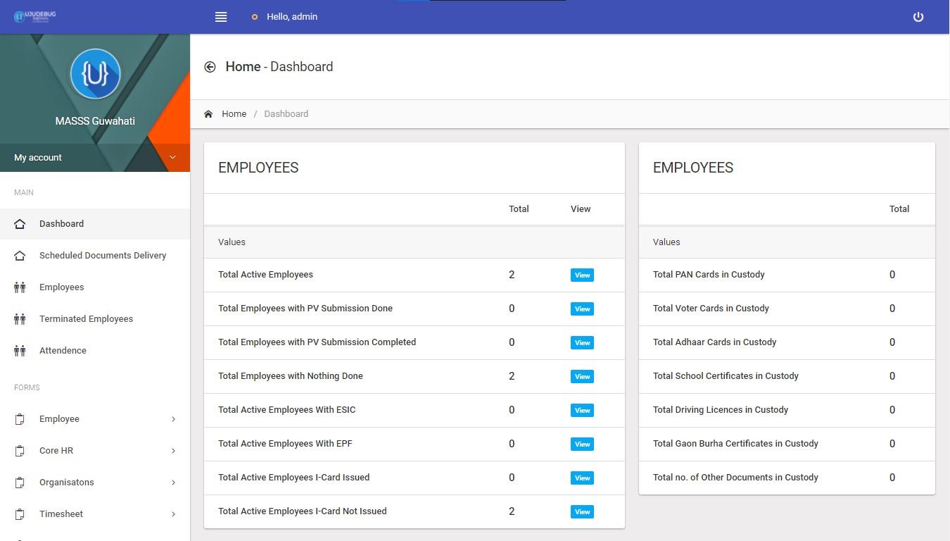 Masss India management software Screenshot 1
